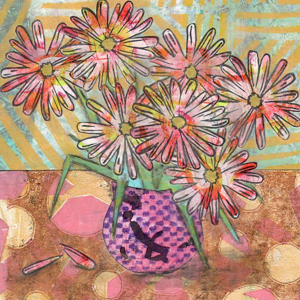 Seven Blooms: An Original Mixed Media Artwork by Jennifer Akkermans