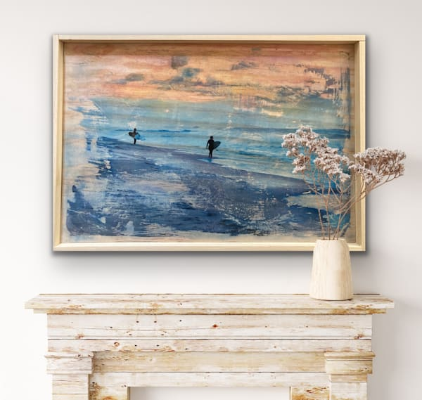 #10 Hand Altered And Painted Pastel Surf Wood Creation | Silver Sun Photography
