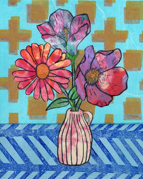 Friendship: Mixed media Floral artwork by Jennifer Akkermans