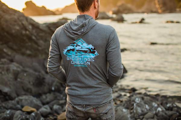 Semi Aquatic Lightweight Brookings Big Wave Zip-up Hoodie by Spencer Reynolds