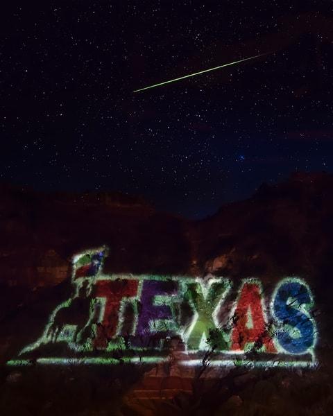 Texas And Shooting Stars Art   Jim Livingston Art