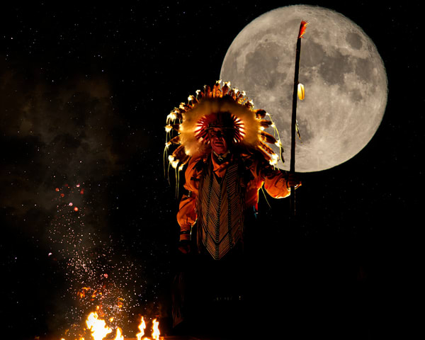 Quanah In The Moonlight Art   Jim Livingston Art
