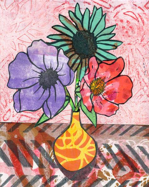Awe: Mixed media Floral artwork by Jennifer Akkermans