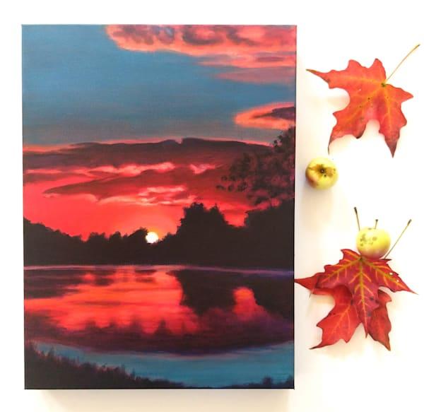 Mill Pond Nocturne Art | Lesley McVicar Art