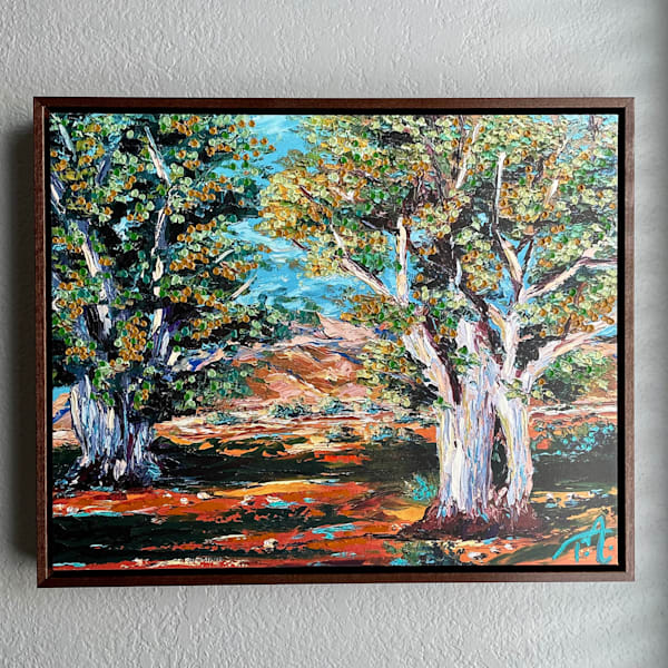 Eucalyptus Study   Oil Embellished Giclée #1 Art   Tessa Nicole Art