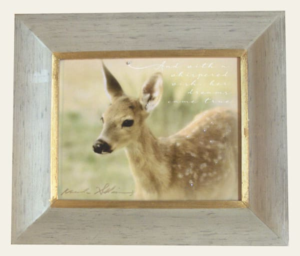 One Only Framed Fawn Sparkly Canvas
