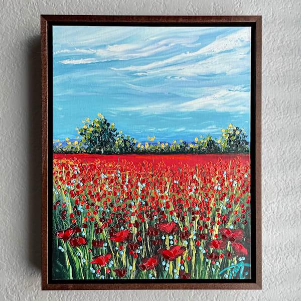 Under Blue Skies   Oil Embellished Giclée #3 Art   Tessa Nicole Art