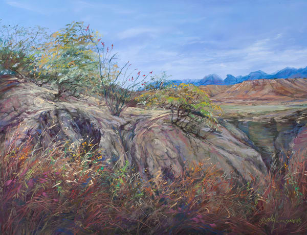 LIndy Cook Severns Art | Trail to the Indian Spring, print