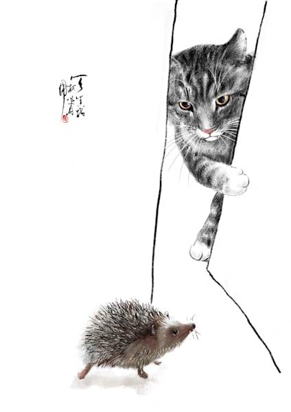 Cat And Hedgehog Photography Art | Cheng Yan Studio