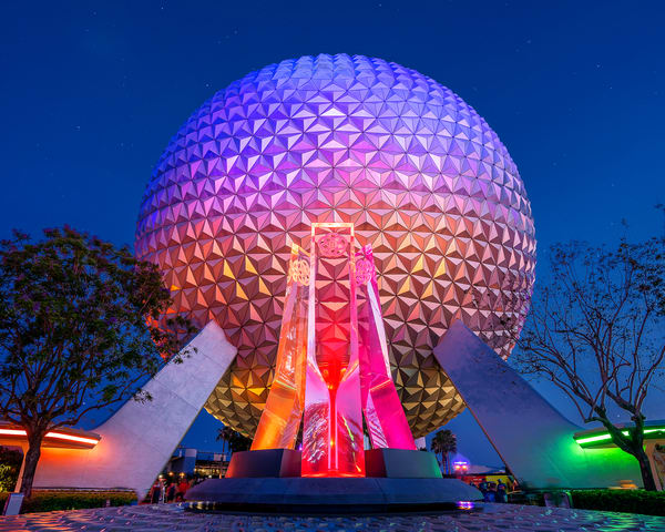The Stars And Spaceship Earth At Epcot Copy Photography Art   William Drew Photography
