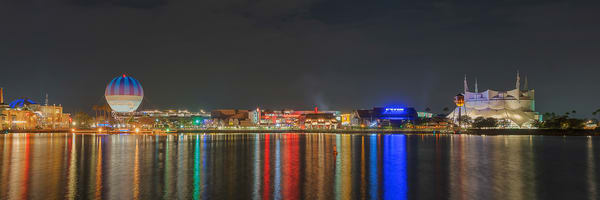 Disney Springs At Night Photography Art | William Drew Photography