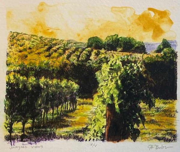 Vineyard Views (Unframed) Art | Fountainhead Gallery