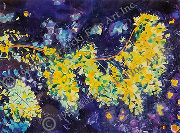 Yellow Shower Tree Art | Kasprzycki Fine Art Inc.