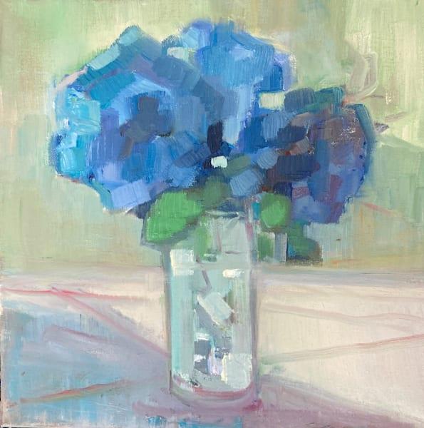 Hydrangeas On The Porch Art | Peg Connery-Boyd Artwork