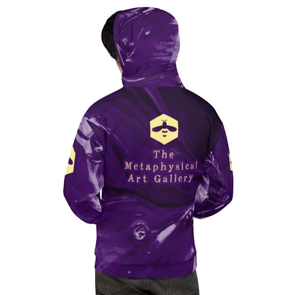 Purple Splash Hoodie | Metaphysical Art Gallery