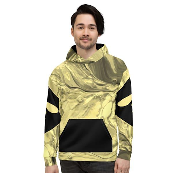 Yellow Splash Hoodie | Metaphysical Art Gallery