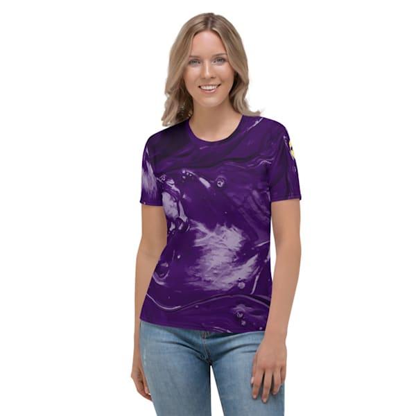 Purple Splash Women's Tee | Metaphysical Art Gallery