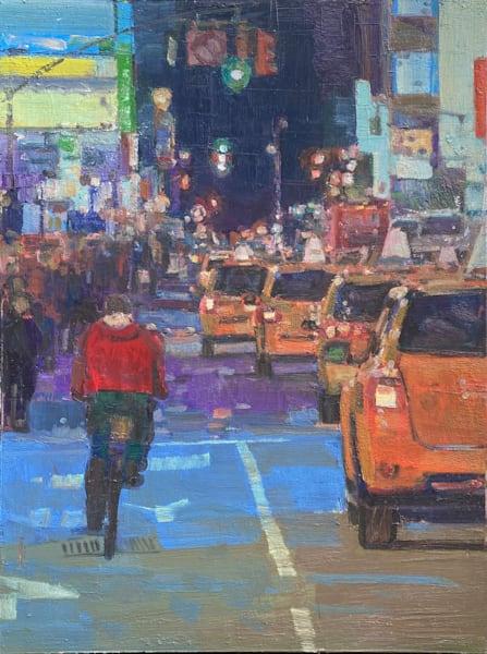 Red Bicyclist Art | Hammerstein Enterprises