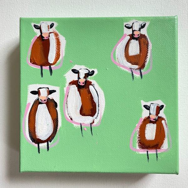 Mini Cows Grassy | Lesli DeVito