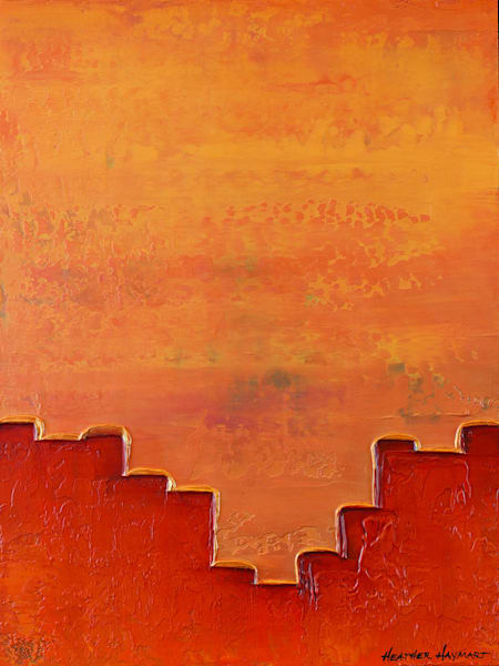 Rainbow Series Orange #6 - original painting