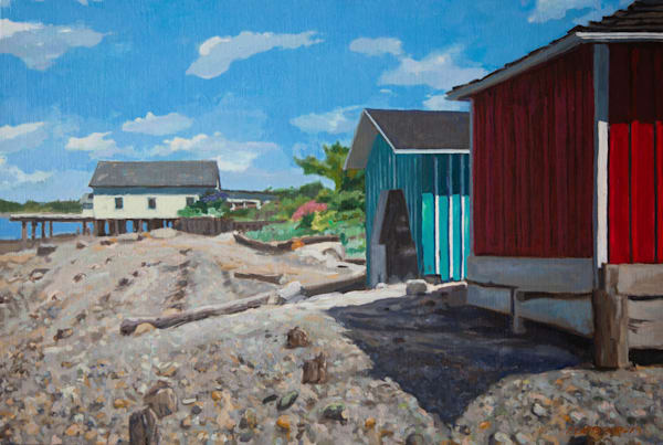 Boat And Net Sheds Art | Fountainhead Gallery