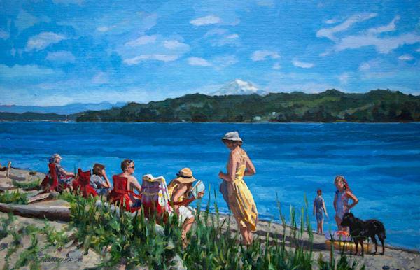 Family On The Beach Art | Fountainhead Gallery