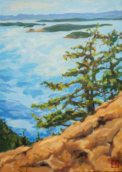 Weathered Firs Over President Channel Art | Fountainhead Gallery