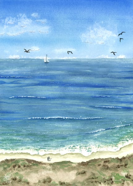 """""""For By HIM All Things Were Created"""" - Triptych 2 of 3 - Watercolor Reproduction"""