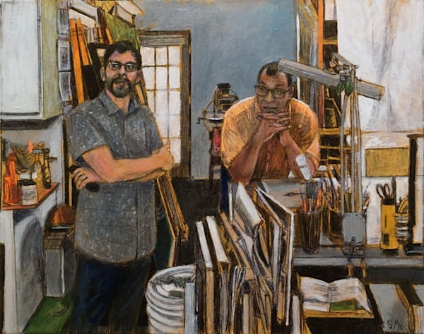 Doug Myatt Curator And Ron Bechet Artist In Studio Art | New Orleans Art Center