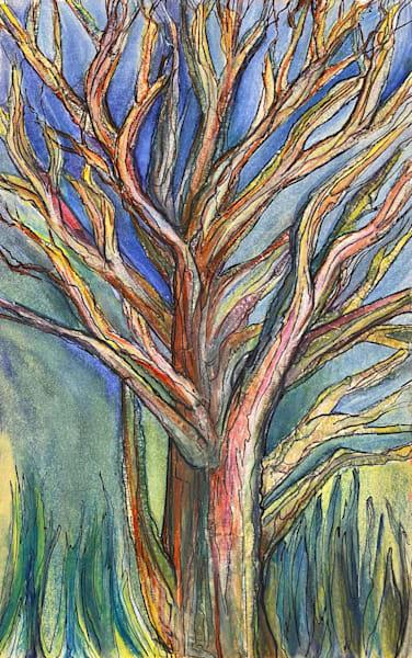 Tall Grass Tree Art | Artist Rachel Goldsmith, LLC