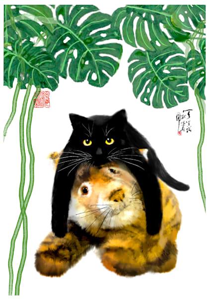 Black Cat And Tiger Photography Art | Cheng Yan Studio