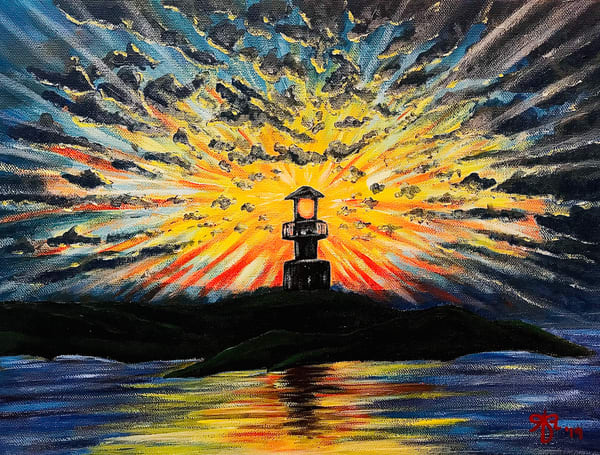 Lookout Point Lighthouse Art | Anthony Joseph Art Gallery