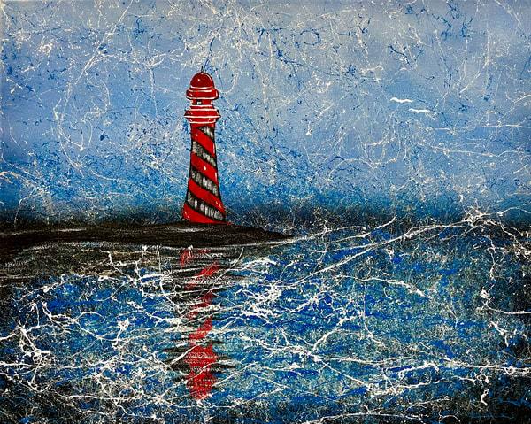Seaside Lighthouse Art | Anthony Joseph Art Gallery