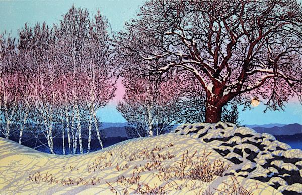 Spring Morning, linocut print by William Hays