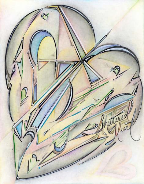 Shattered Heart (Limited Edition Print) Art | Kim P. Bartholomew