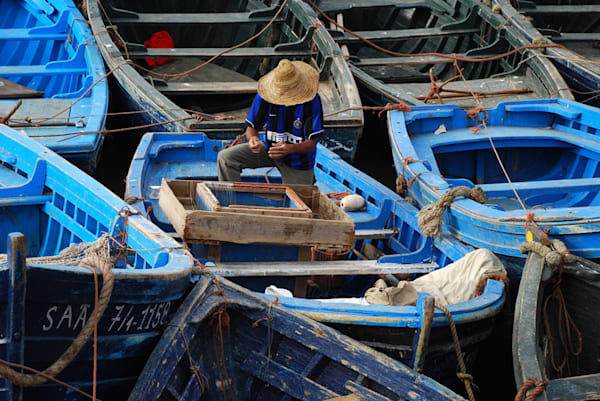 Fisherman at Work in Morocco