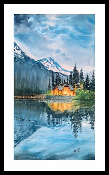 """Lone Wilderness"" in Watercolors by Aprajita Lal (Original 12x22)"