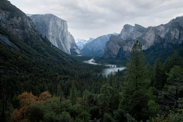 Stunning view of Yosemite Valley in a color fine art print.