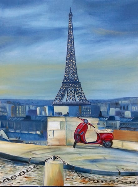 Eiffel Tower with Vespa