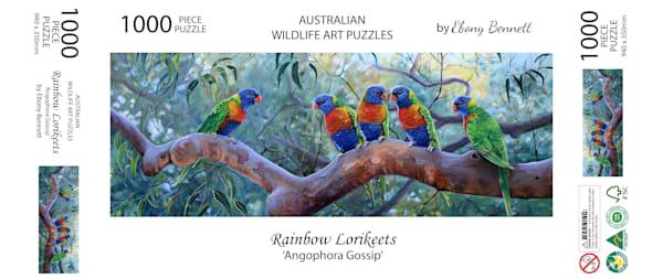 Rainbow Lorikeets - Angophora Gossip (1000 Piece Puzzle)