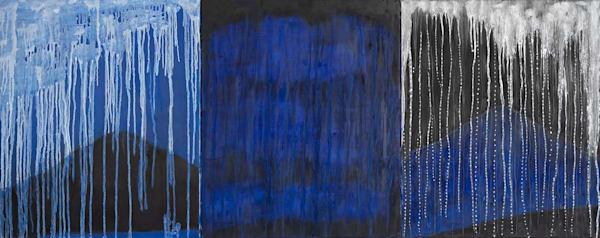 Rain On The Mountain Tryptych Art | Norlynne Coar Fine Art
