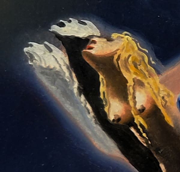 """Three Fingers from the Hand of Time detail from the painting """"Windows of Allegory"""" - Prints"""