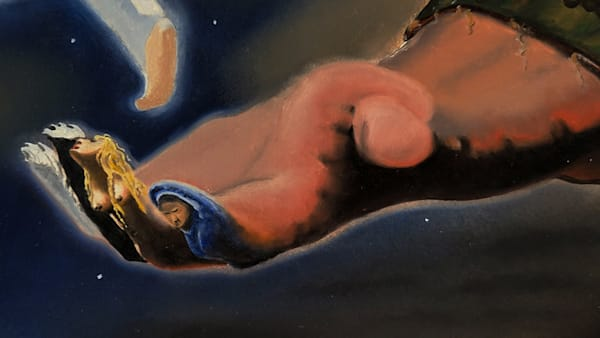 """""""The Hand of Time"""" closer detail from the painting """"Windows of Allegory"""" – Prints"""