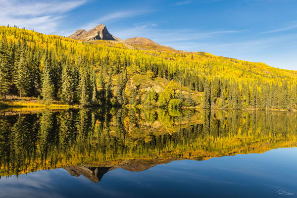Fall colors reflection on Index Lake.
