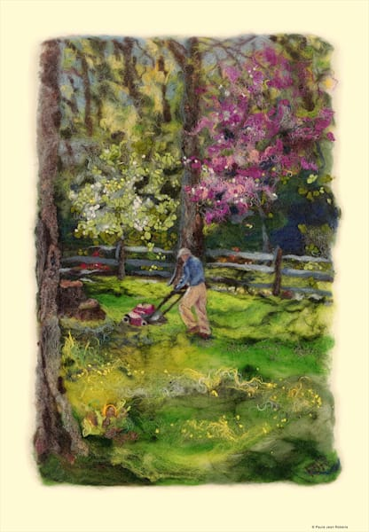"""""""First Mow of Spring"""" fine art print by Paula Roberts."""
