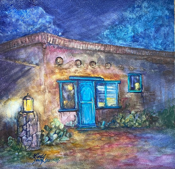 I'll Leave a Light On, original watercolor | Lindy Cook Severns Art