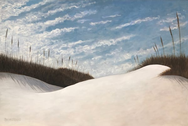 """Coastal Winter"" Oil On Canvas Art   Margaret Biggs Fine Art"