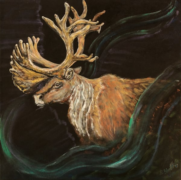 The Caribou Painting 500 Art   lisaabbott.art