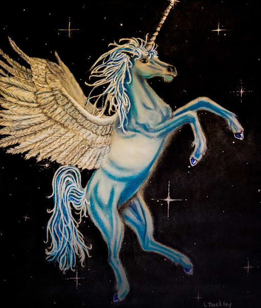 Hs Winged Unicorn 430 Art   lisaabbott.art