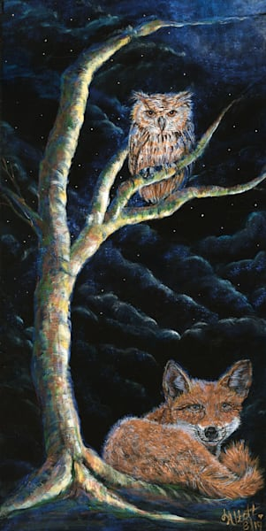 Owl And Fox 350 Art   lisaabbott.art